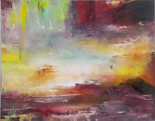 Peinture abstraite Aube entière