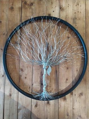 sculpture acier arbre de vie entière