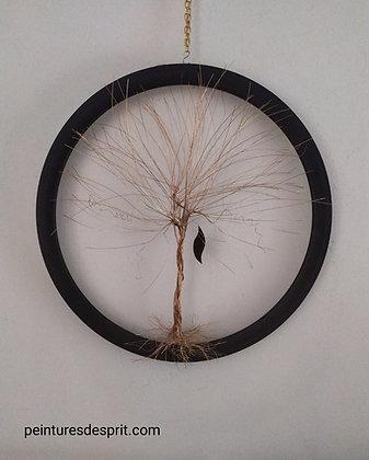 Sculpture cuivre arbre de vie entière