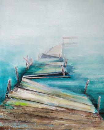 peinture abstraite équilibre gros plan