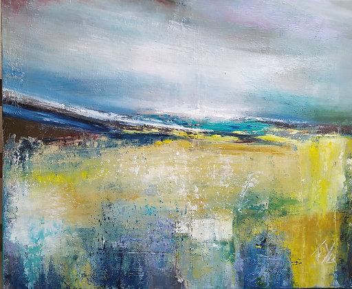 Abstract peinture abstraite gros plan