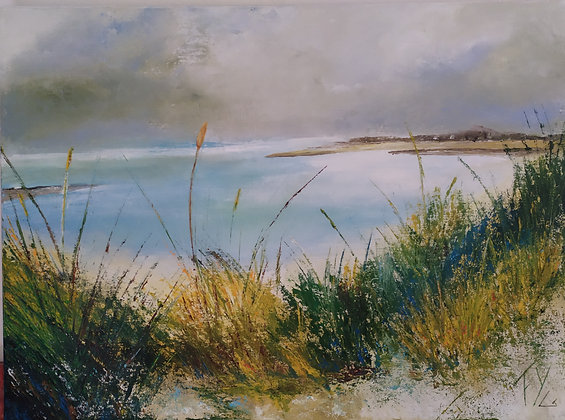 Peinture abstraite Cotentin gros plan