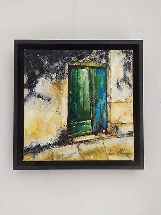 peinture abstraite Jade entière