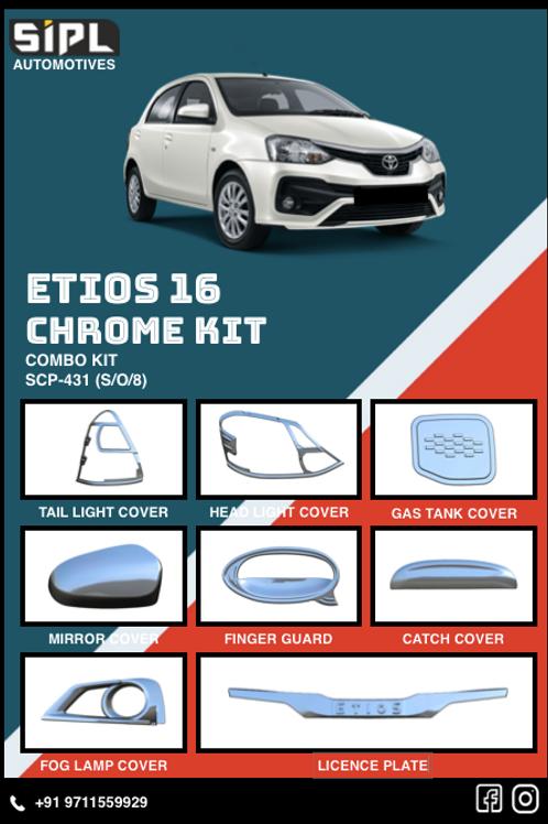 Etios 2016 Chrome Kit (S/O/8)
