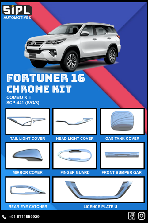Fortuner 2016 Chrome Kit (S/O/8)