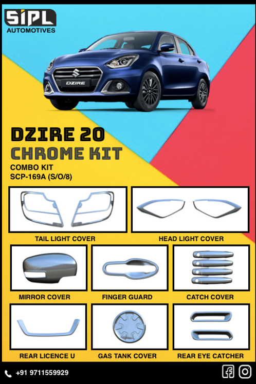 Dzire 2020 Chrome Kit (S/O/8)