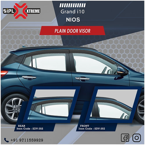Grand i10 Nios Door Visor Plain