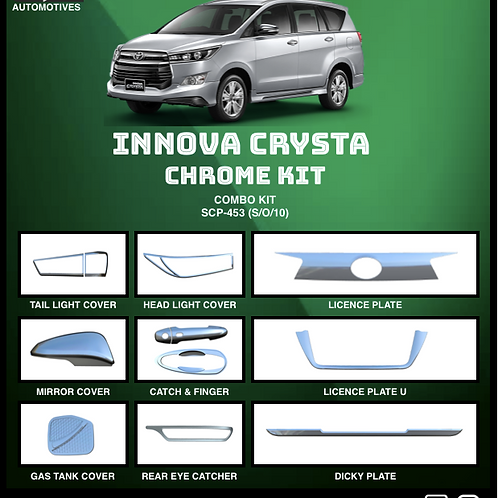 Innova Crysta Chrome Kit (S/O/10)