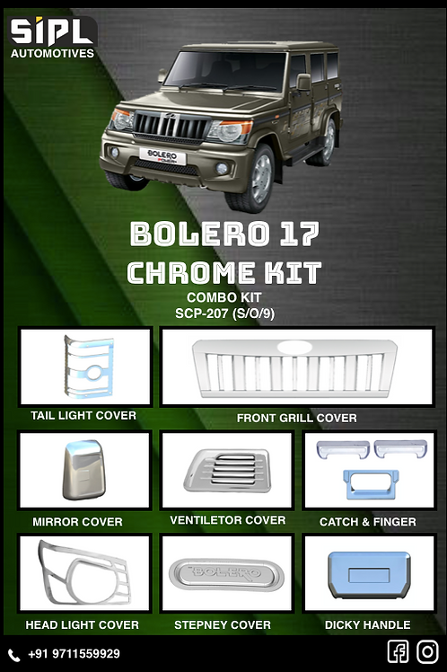 Bolero 2017 Chrome Kit (S/O/9)