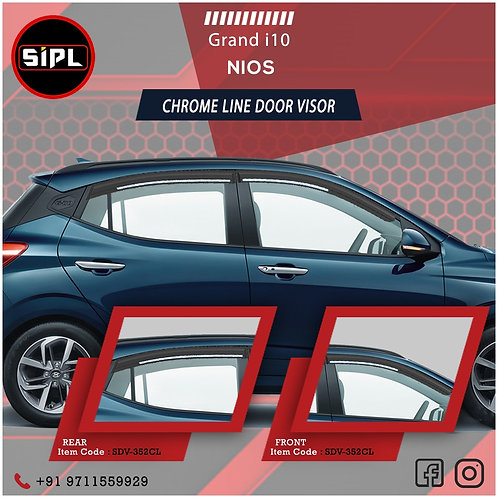 Grand i10 Nios Chrome Line Visor