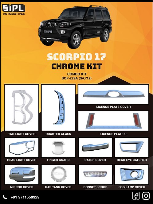 Scorpio 2017 Chrome Kit (S/O/12)