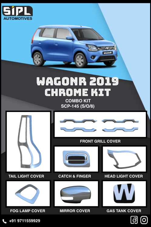 WagonR 2019 Chrome Kit (S/O/8)