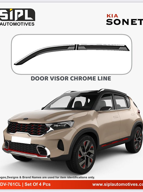 Kia Sonet Door Visor Chome Line (S/O/4)