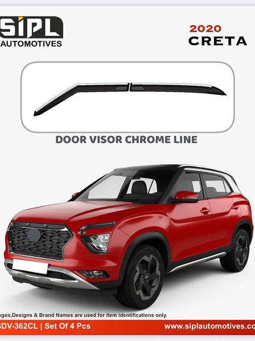 Hyundai Creta 2020 Door Visor Chrome Line (S/O/4)