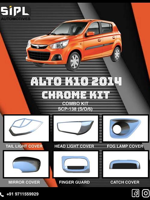 Alto K10 2014 Chrome Kit (S/O/6)