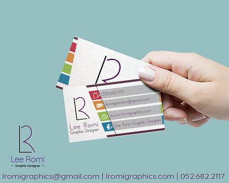 עיצוב כרטיסי ביקור לעסק