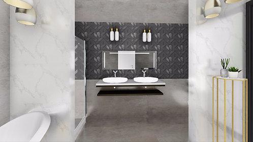 הדמיית אדריכלים -מקלחת