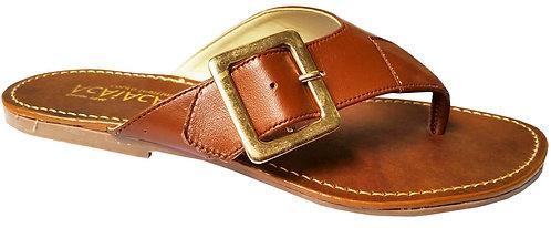 Modelo 222 sandália feminina em couro.