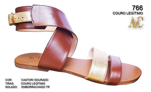 Modelo 766 sandália feminina em couro