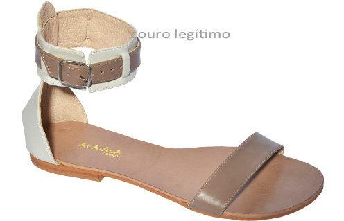 Modelo 520 sandália feminina em couro