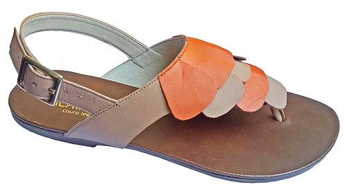 Modelo 751 sandália feminina em couro