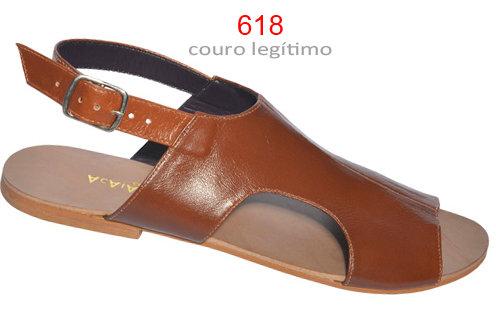 Modelo 618 sandália feminina em couro.