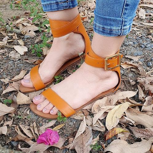 REF 831 sandália em couro legítimo