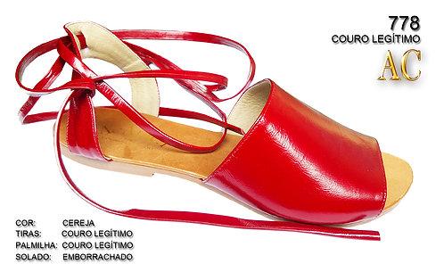 778 sandália feminina em couro