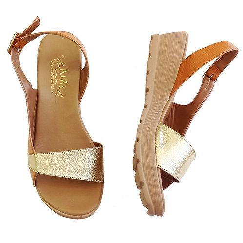 Modelo 7052 sandália em couro legítimo.