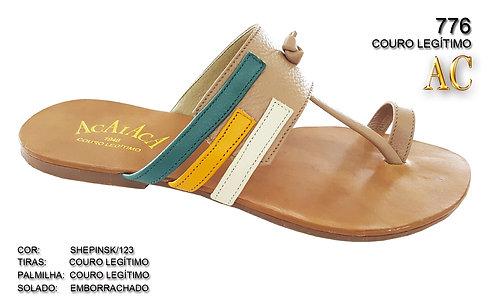 776 sandália feminina em couro