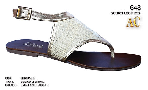 Modelo 648 sandalia feminina em couro