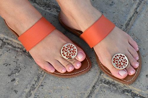 Modelo 373 sandália feminina em couro