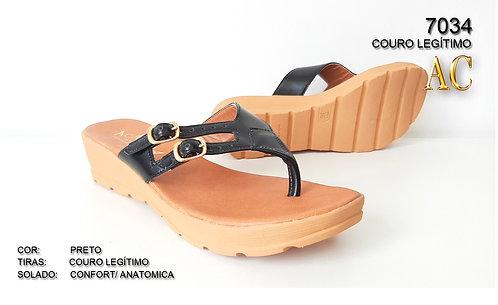 REF 7034 sandália em couro legítimo