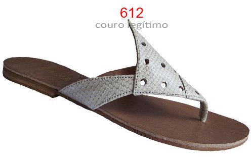 Modelo 612 sandália feminina em couro.