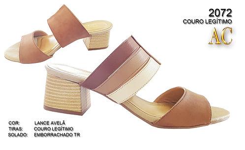 2072 sandália feminina em couro