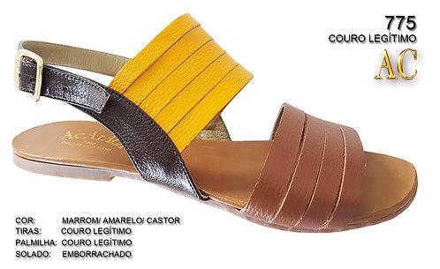 775 sandália feminina em couro