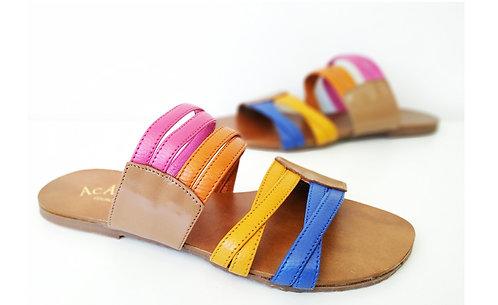 REF 824 sandália em couro legítimo