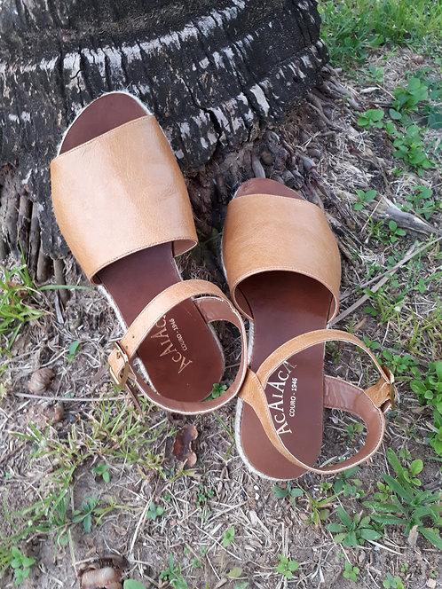 Ref 113 sandália em couro legítimo