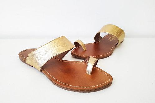 cópia de REF 177 sandália em couro legítimo