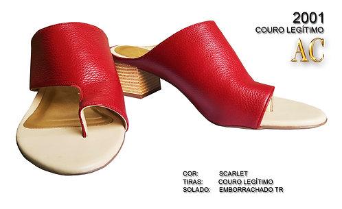 Modelo 2001 sandália feminina em couro