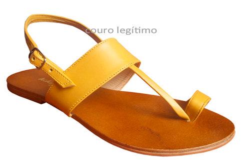 Modelo 609 sandália feminina em couro