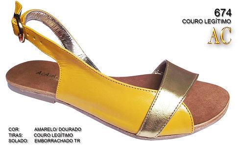 Modelo 674 sandália feminina em couro