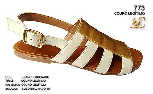 Modelo 773 sandália feminina em couro