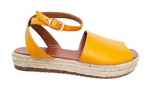 REF 114 sandália em couro legítimo