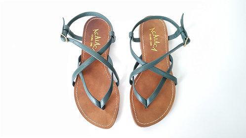 de REF 833 sandália em couro legítimo.