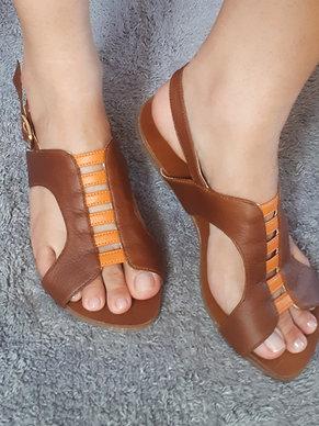 Modelo 603 sandalia feminina em couro