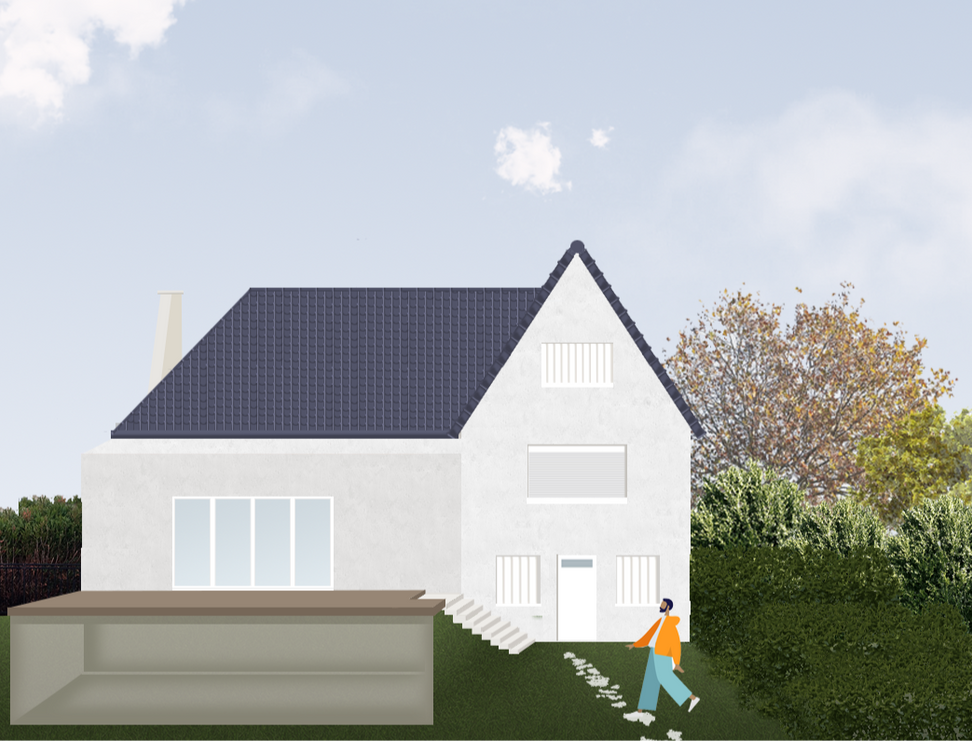 Extension d'une maison inviduelle-Permis de Construire-Maison brulis