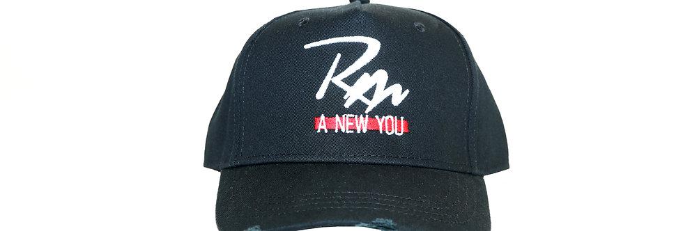 Remake Logo Distressed Cap - Black