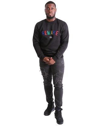 Unisex Statement Sweatshirt (Black)
