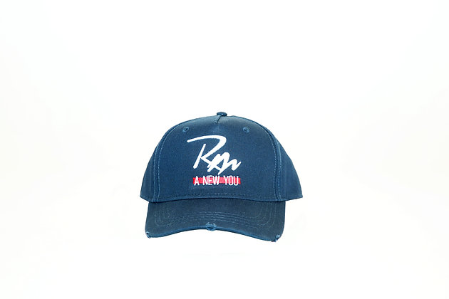 Remake Logo Distressed Cap - Blue